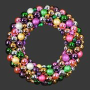 Christmas at Winterland WL-BWR-18-5M 18 Inch Multicolor Ornament Wreath