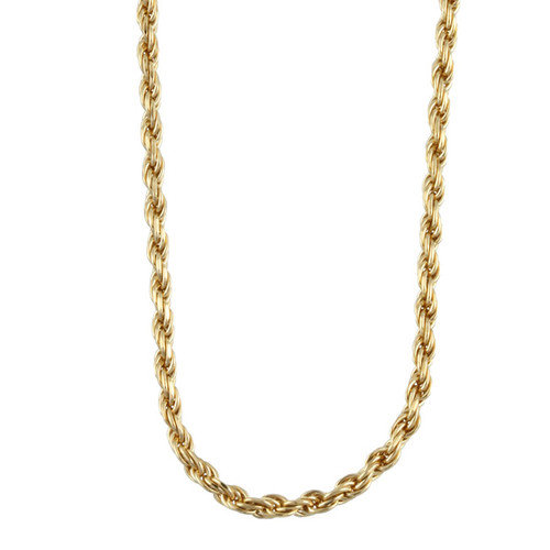 Sterling Essentials 14k Gold over Silver Rope Chain (2 mm)
