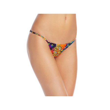 - Milly Cabana Womens Printed Cheeky Bikini Trunks