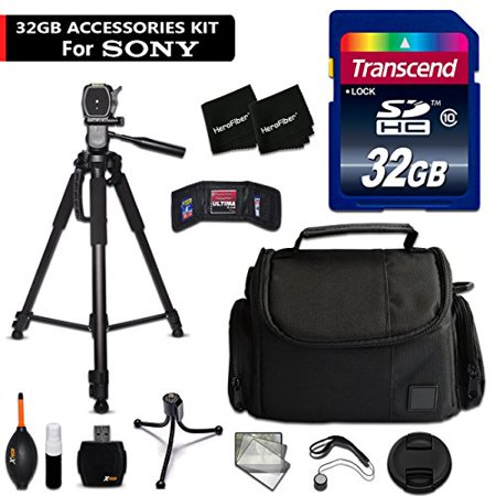 32GB Accessory Kit for Sony Alpha A6300, a6000, a5100, a5000, a3000, Alpha a7II, a7IIK, 7, 7 II, 7S, 7R Digital Cameras includes 32GB High-Speed Memory Card + Fitted Case + 72 inch Tripos +