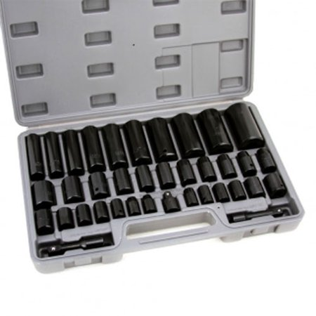 Standard Socket Set (Deep Impact Socket Set 38 Pc Duo Standard Metric SAE MM )