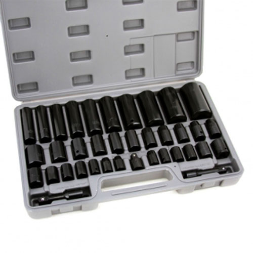 Deep Impact Socket Set 38 Pc Duo Standard Metric SAE MM