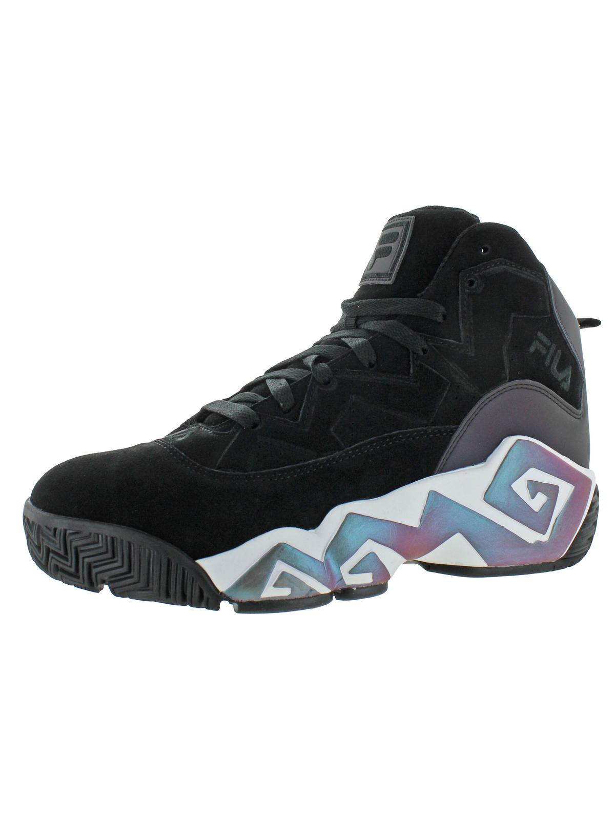 Fila Fila Men's MB Phase Shift Leather Basketball Trainers Sneakers Black Size 13