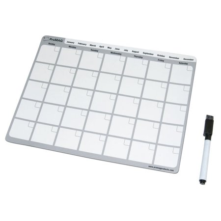 ProMAG 8.5 x 11 Inches Monthly Dry Erase Magnetic