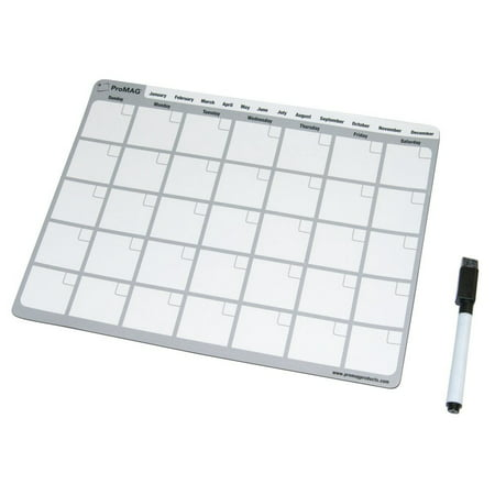 - ProMAG 8.5 x 11 Inches Monthly Dry Erase Magnetic Calendar