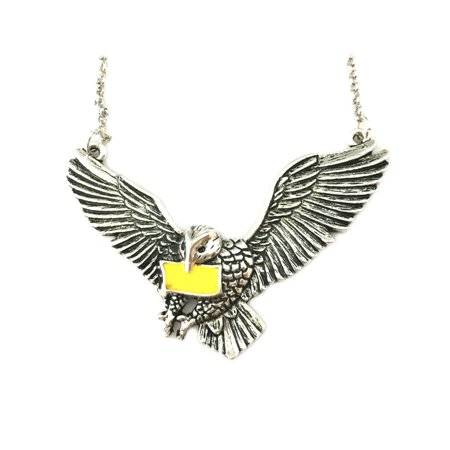 Harry Potter Hedwig Owl Silver Tone Necklace w/Gift Box by Superheroes - Hedwig Owl