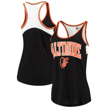 Baltimore Orioles 5th & Ocean by New Era Women's Baby Jersey Racerback Tank Top - Black ()