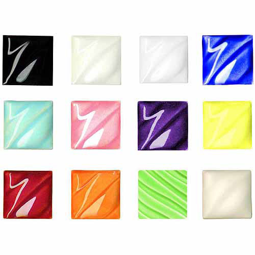 Sax Amaco Non-Toxic Glazes, Assorted Colors, 12pk Pints