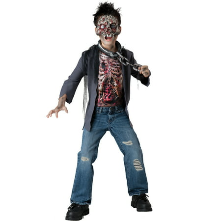 Unchained Horror Zombie Walking Dead Boys Kids Child Halloween Costumes L
