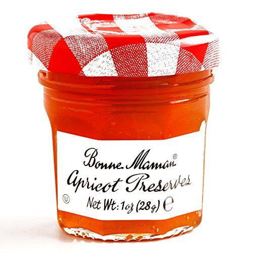 Bonne Maman Apricot Jam 1 oz each (4 Items Per Order) by