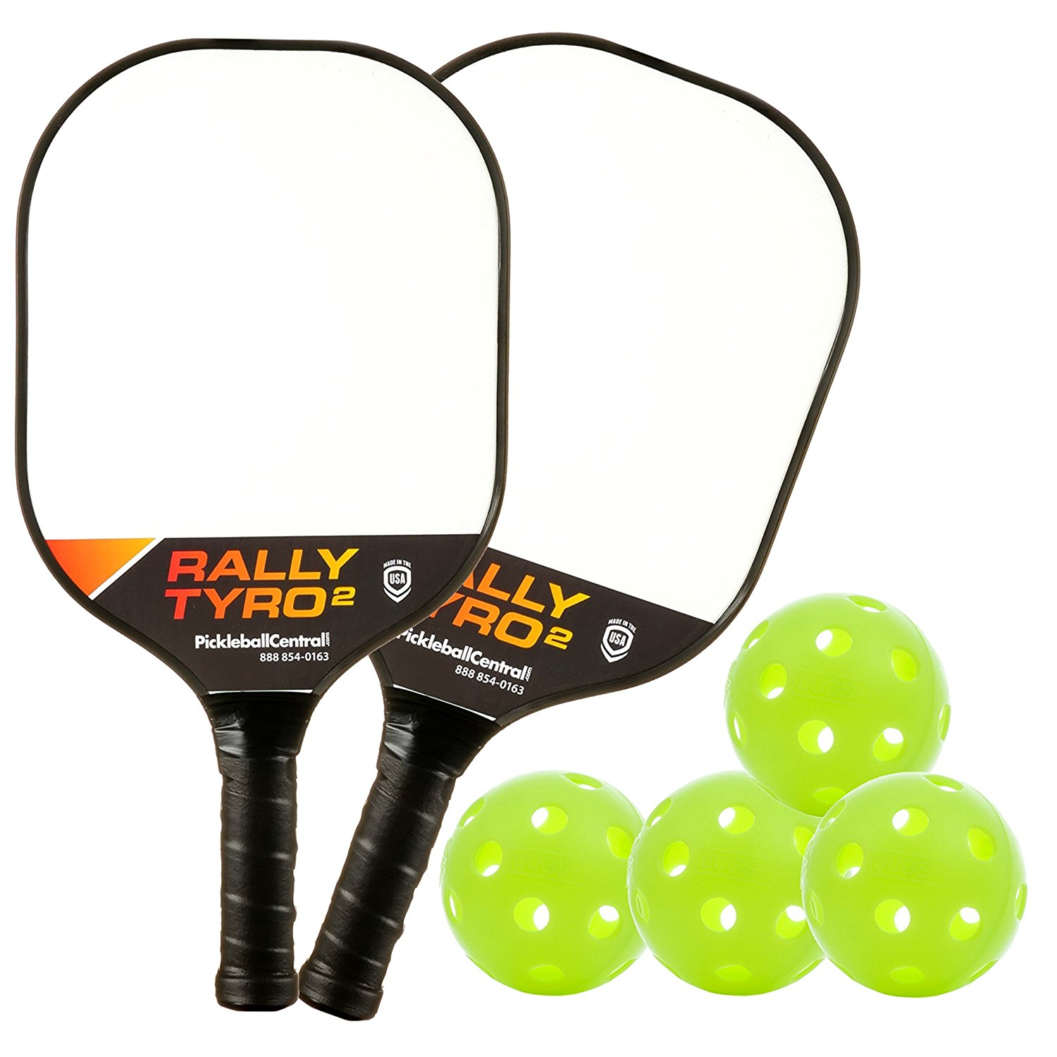 Rally Tryo 2 Composite Pickleball Paddle Bundle with Balls