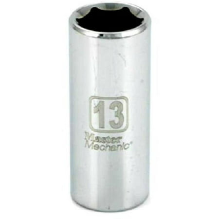Apex Tool Group 119818 0.38 in. Drive Master Mechanic 13 mm 6 Point Deep Well Socket - image 1 de 1