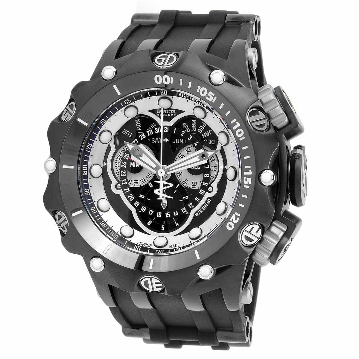 Invicta 20431 Men's Venom Reserve Silver and Black Dial S...
