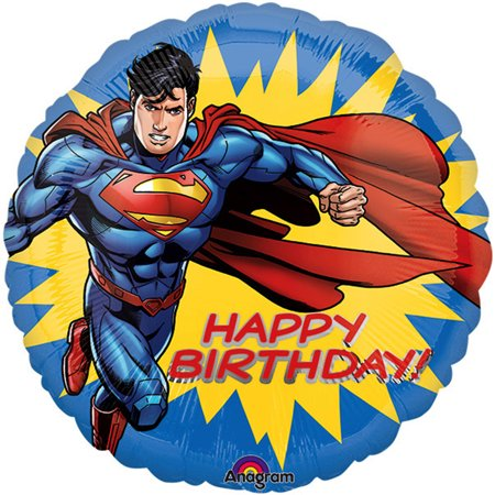 Superman Happy Birthday Authentic licensed Foil / Mylar Balloon 18