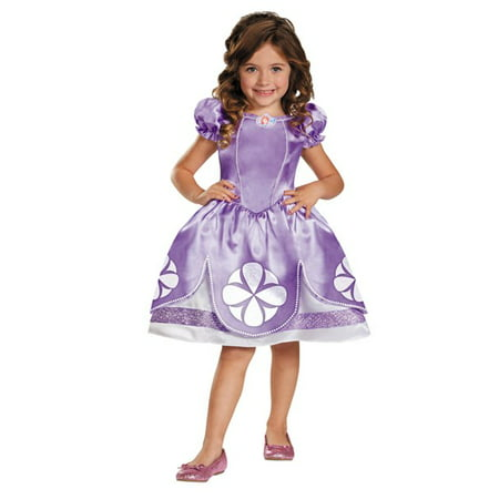 Sofia The First Girls Child Halloween Costume, One Size, Small (4-6x) - Fat Girl Halloween Costumes