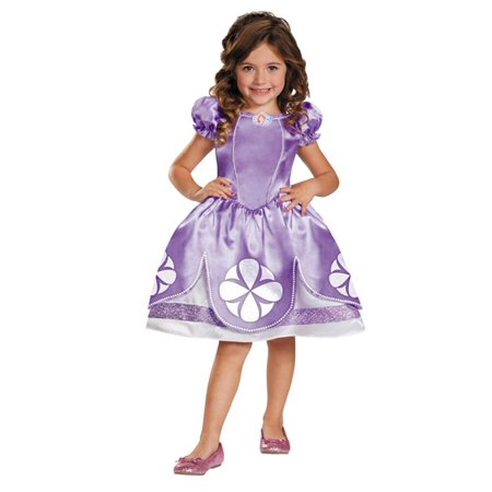 Sofia The First Girls Child Halloween Costume, One Size, Small (4-6x) - Fat Girl Costumes Halloween