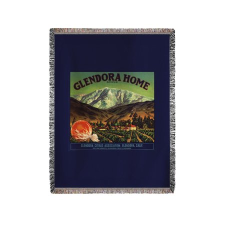 Glendora Home Brand - Glendora, California - Citrus Crate Label (60x80 Woven Chenille Yarn Blanket)](Halloween Glendora)