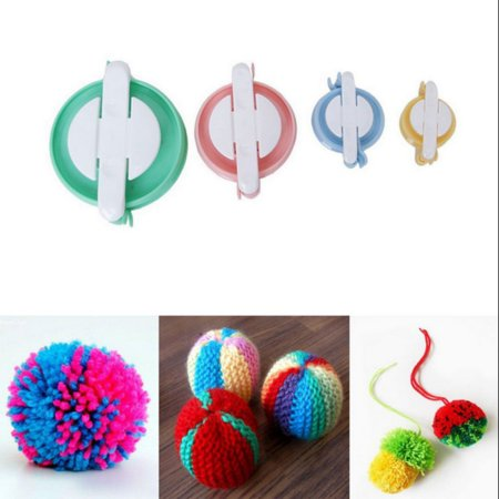 Supersellers 4 Sizes Pompoms Make kits Ball Weaving Tool Fluff Ball Needle craft Knitting DIY Tool Kit Hair Ball Weaving Device ()