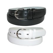 CTM  Leather 1 1/8 Inch Dress Belt (Pack of 2 Colors) (Women's)