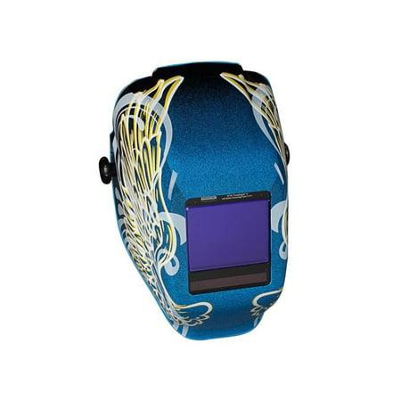 WH70 Truesight II Digital Variable ADF Welding Helmet, 5-13, Blue w/Gold Wings (Jackson Truesight Welding Helmet)