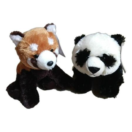 PANDA BEAR & RED PANDA Destination Nation Small Animal Plush by Aurora World