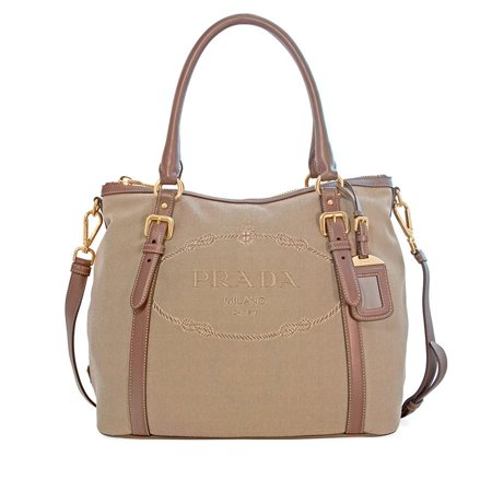 c26b919d12 Prada - Prada Canvas and Soft Leather Shoulder Bag - Rope   Burned -  Walmart.com