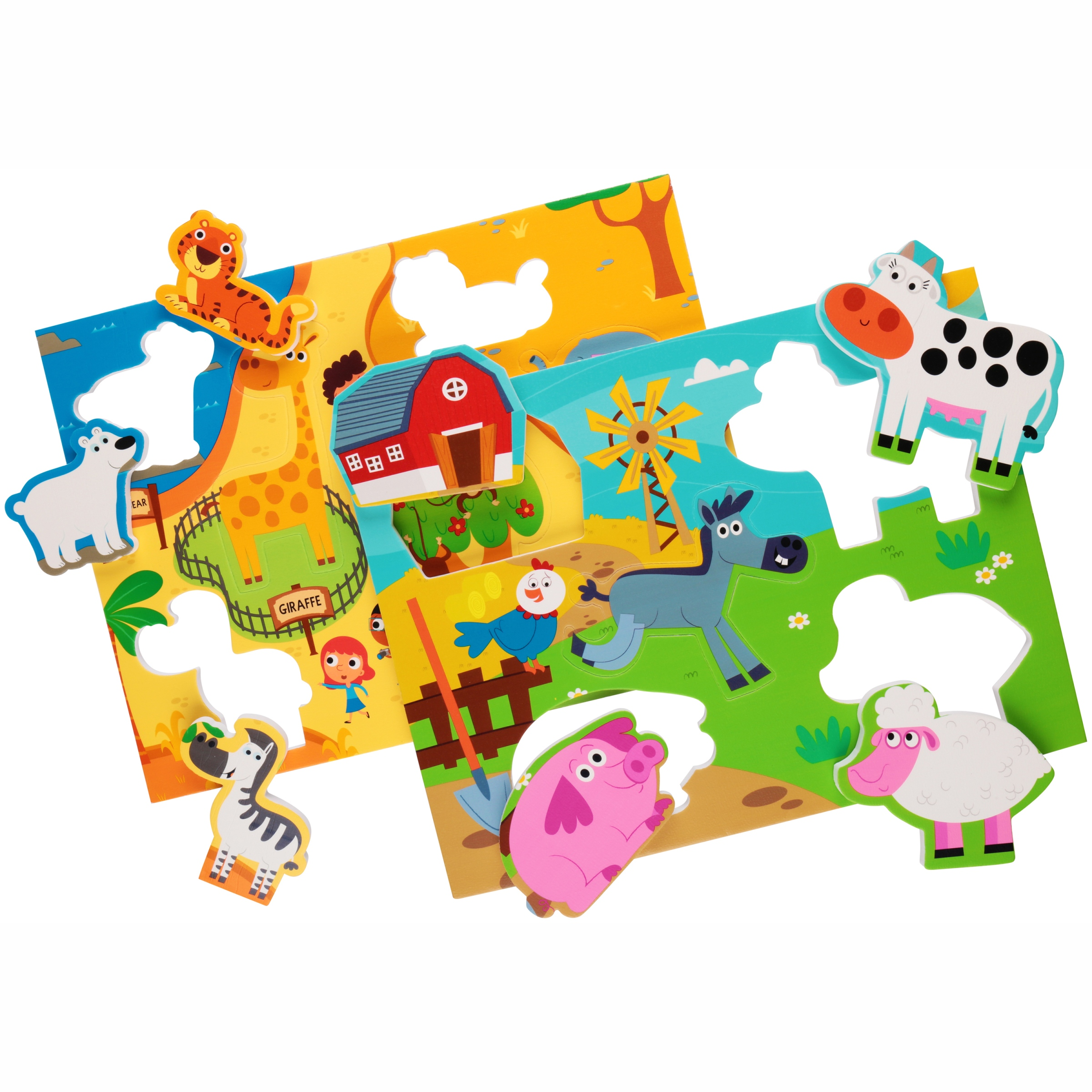 Prince Lionheart® The Only Good Thing Floating in Your Tub™ Zoo/Farm Bath Puzzle 2 ct Pack