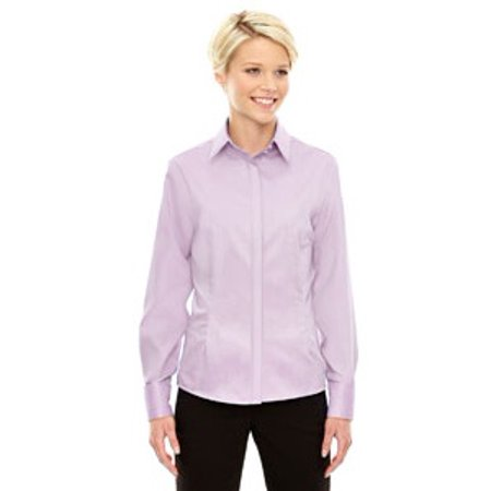 Ash City - North End Sport Blue Ladies' Refine Wrinkle-Free Two-Ply 80's Cotton Royal Oxford Dobby Taped - Royal Oxford Shirt