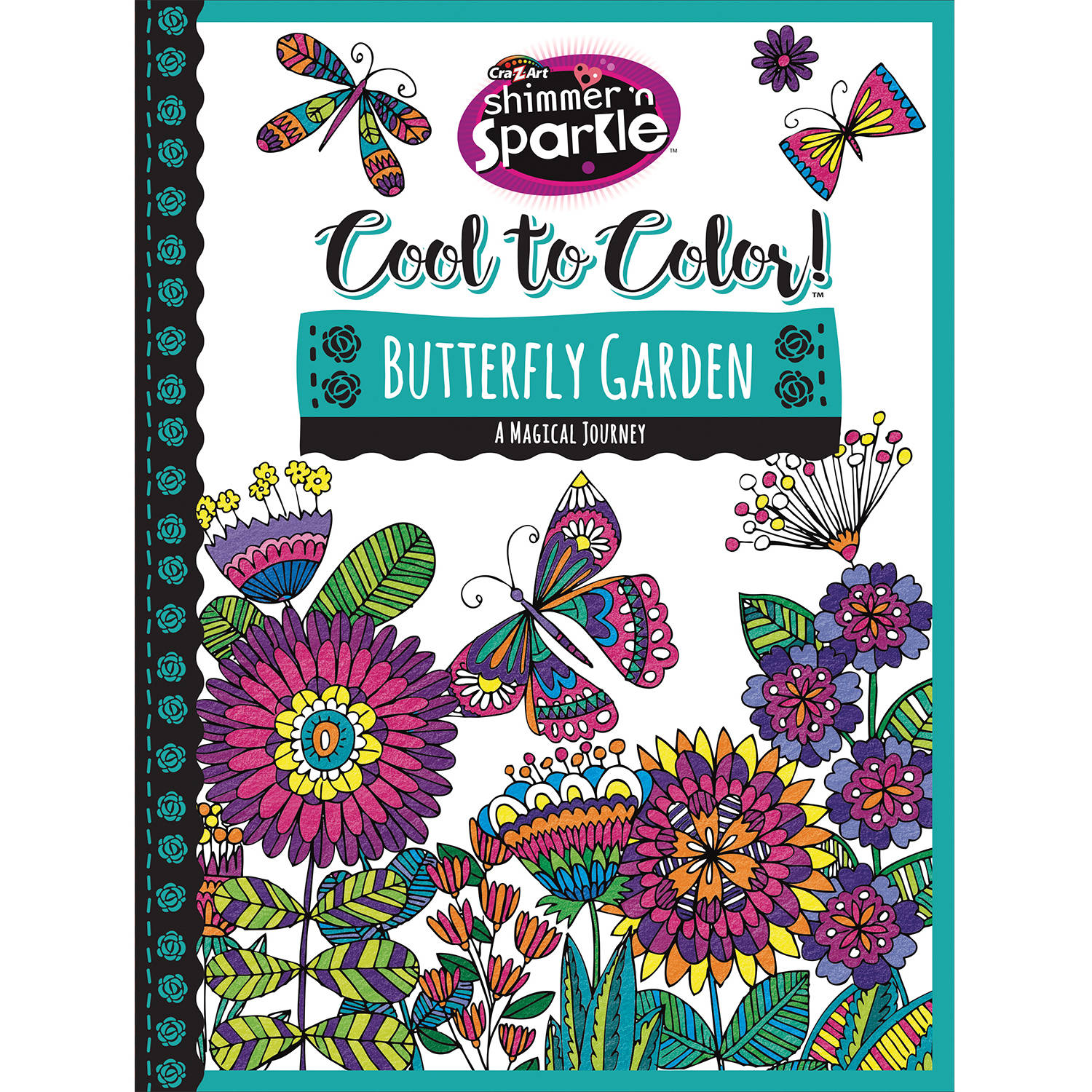 cra z art cool to color tween coloring book butterfly garden