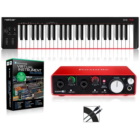 Nektar Se49 49 Key Usb Midi Keyboard Controller Packages  Intermediate Virtual Instrument Package