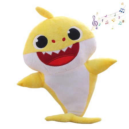 Mignova Shark Baby Singing Plush Doll,Cute Cartoon Shark Plush Toy Singing Children English Song Gift boy Girl Shark Baby -