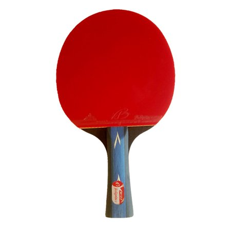 1PCS Durable Table Tennis Paddle Racket Rubber with Sponge Solid Wood Grip Handle with Bag Specification:Shakehand Grip