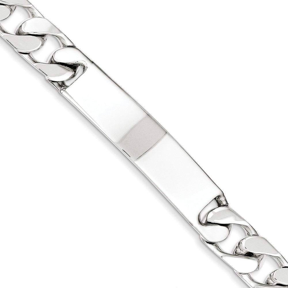 Sterling Silver 7.5in Engravable Curb Men's Link ID Bracelet