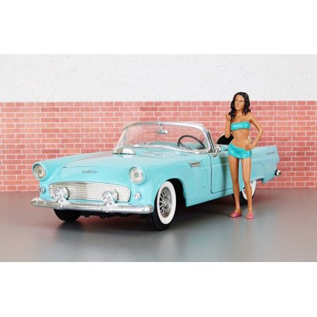 Framed Art For Your Wall Ford Auto Ford Thunderbird Toy Car Old Model Car 10x13 Frame