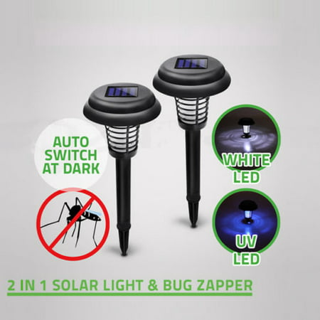 Solar Powered Mosquito (Solar Powered LED Light Pest Bug Zapper Insect Mosquito Killer Lamp Garden Lawn )