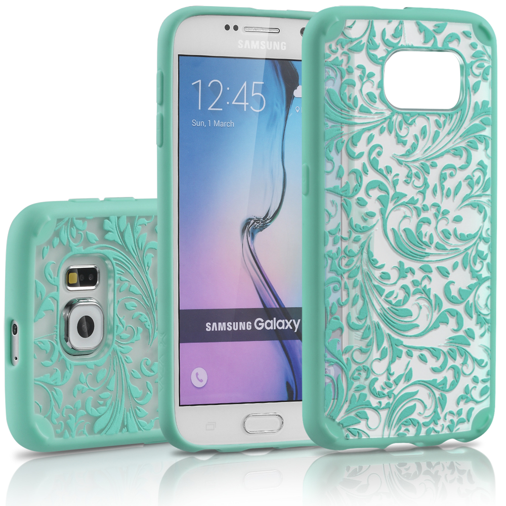 Samsung Galaxy S6 Case, Vena URBAN Design Slim Fit Cover Hybrid Case for Samsung Galaxy S6 (QUILL Teal)