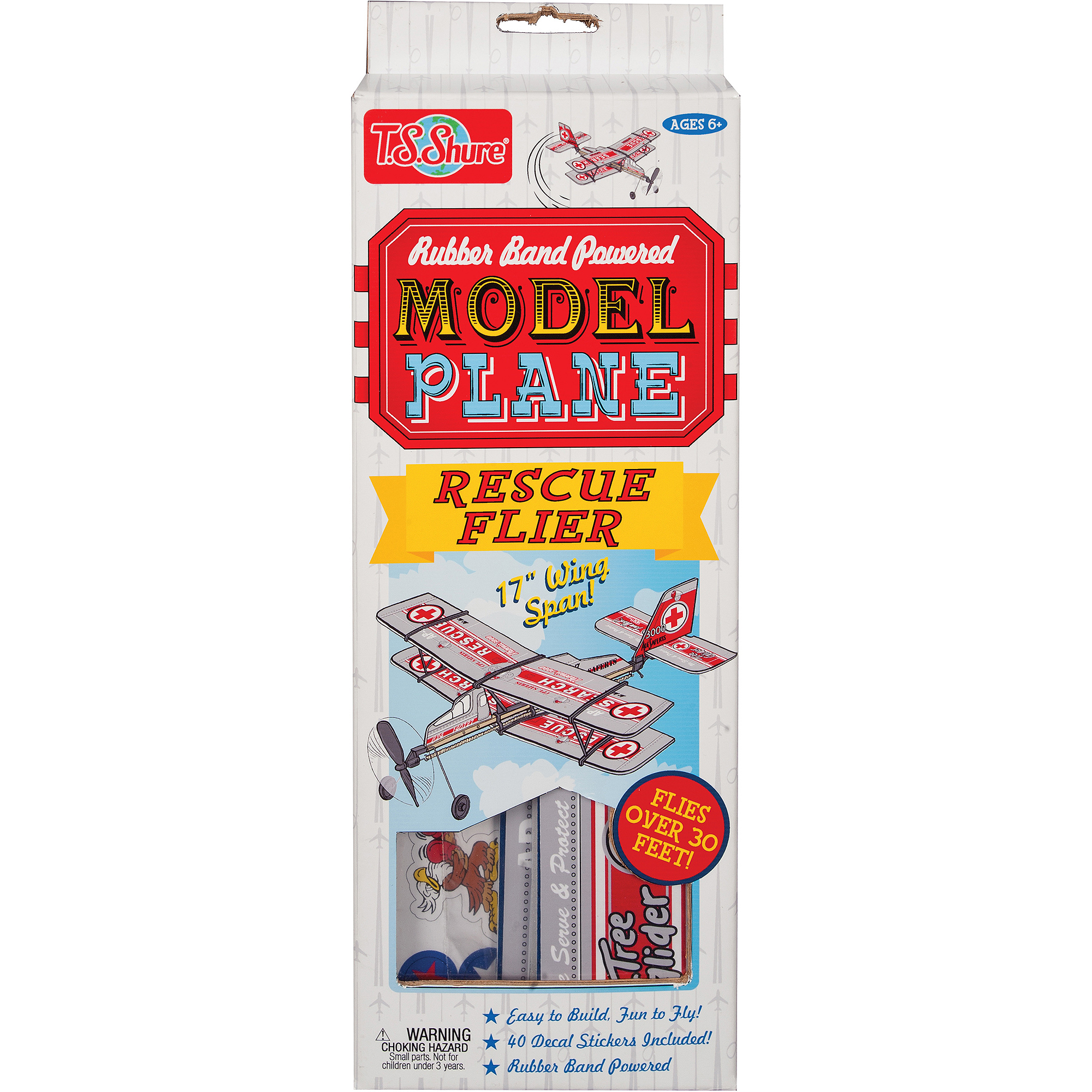 T.S. Shure Rubber Band Powered Rescue Flier Model Plane Kit by TS Shure