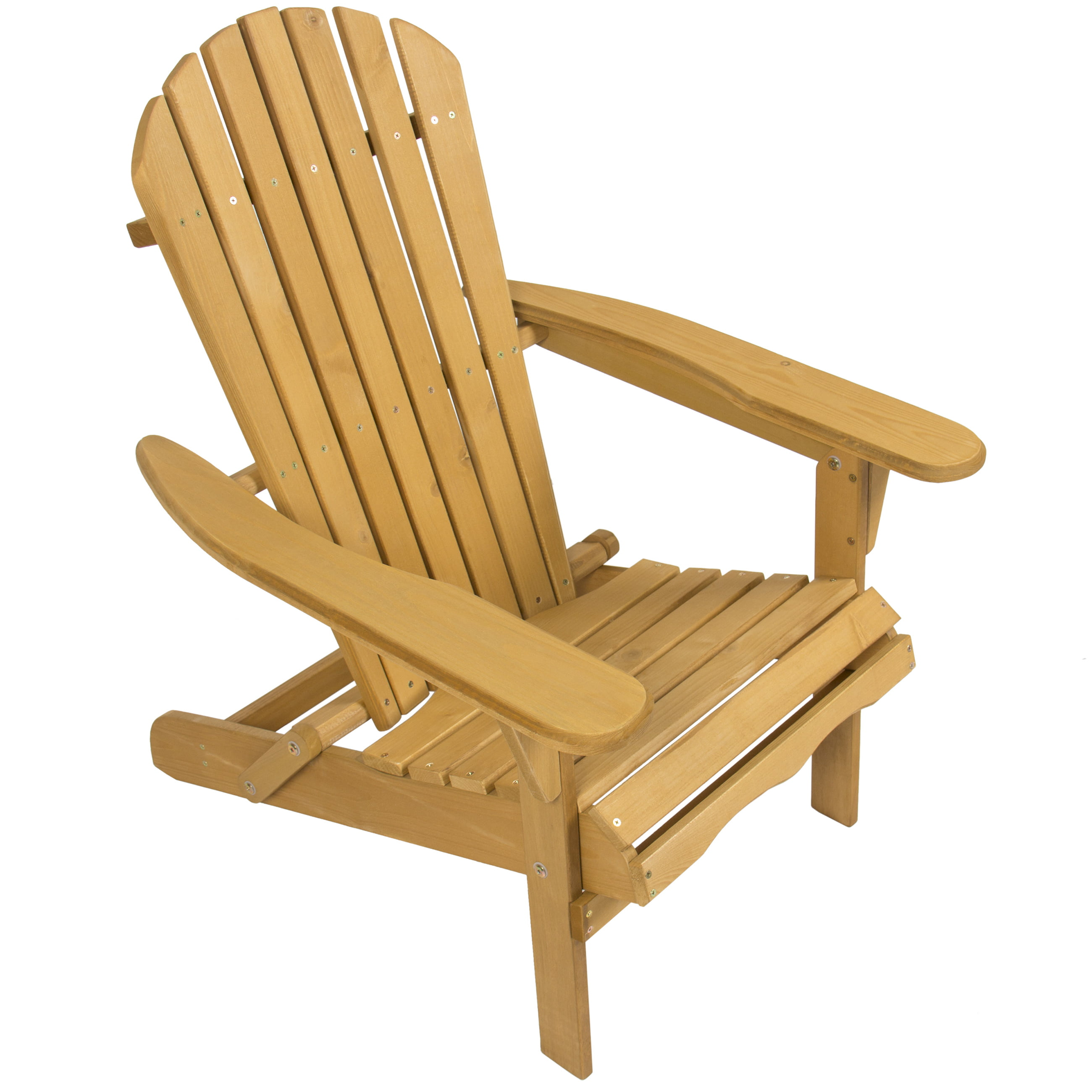 High Quality Best Choice Products Outdoor Wood Adirondack Chair Foldable Patio Lawn Deck  Garden Furniture   Walmart.com