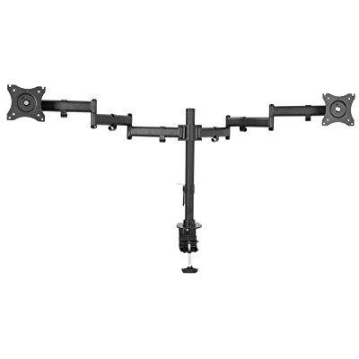vivo dual computer monitor mount fully adjustable vesa stand for two ultra wide screens up to 38 (stand-v032m)