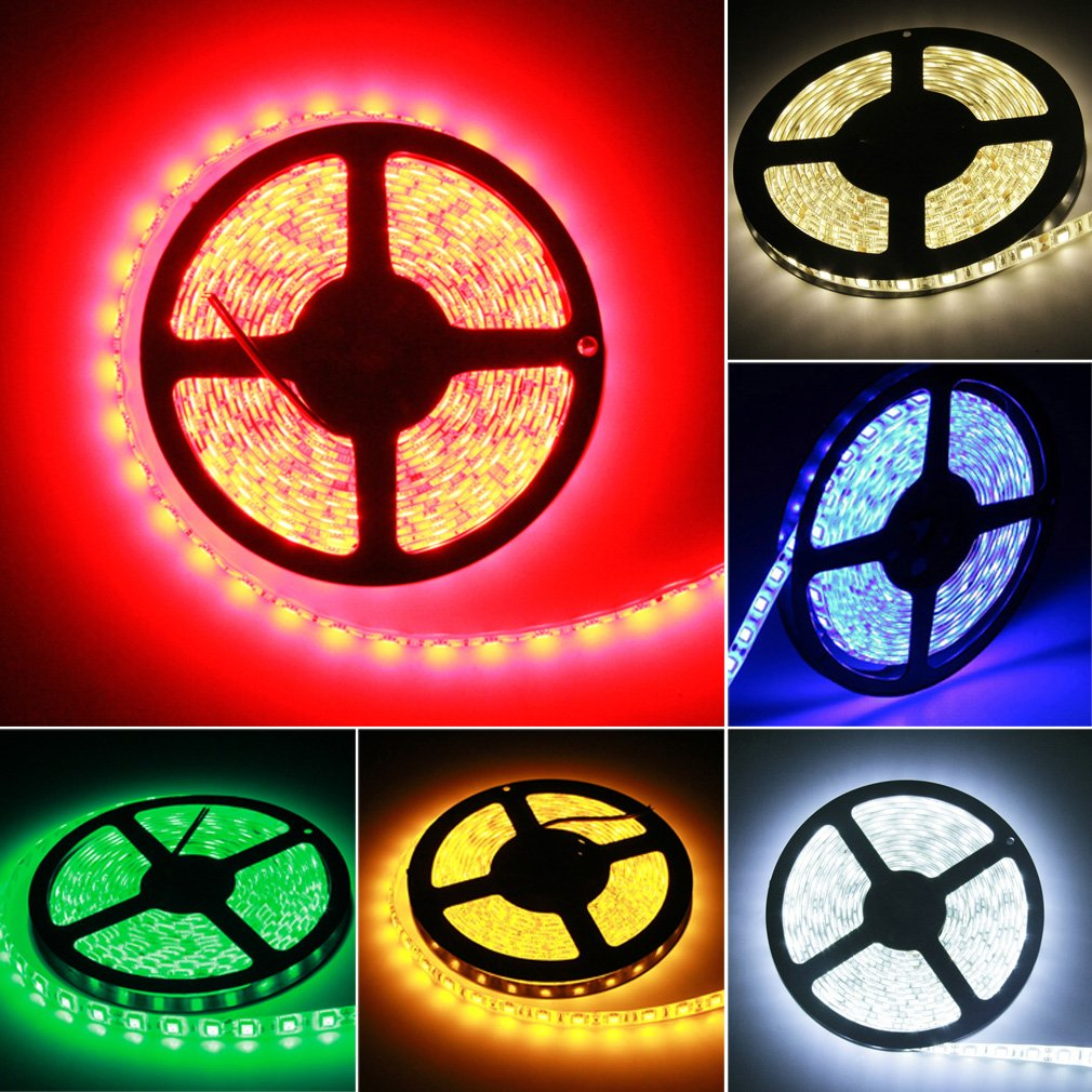 Waterproof Super Bright 5M 5050 SMD 300 LED Flexible Strip Light 12V New Green