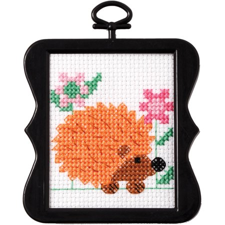 Bucilla   Mini Counted Cross Stitch Beginner Stitchery Kit by Plaid, Hedgehog, 2