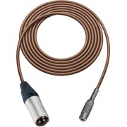 Sescom SC1.5XMJBN Audio Cable Canare Star-Quad 3-Pin XLR Male to 3.5mm TS Female Brown - 1.5 Foot