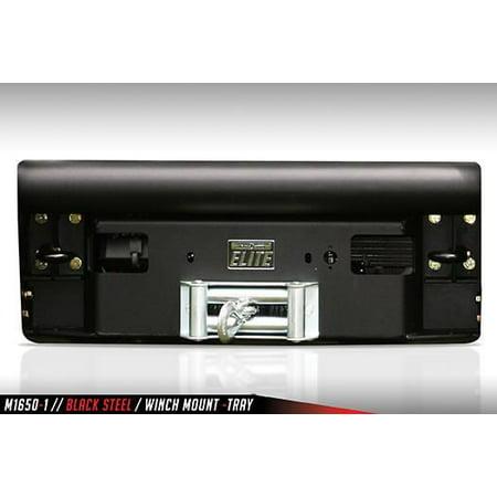 Fab Fours K1200-1 Winch Mount Black Steel Universal; Powder Coated; Black; Steel - image 1 of 1