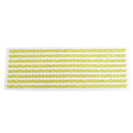 Gold Tone Self Adhesive Crystal Rhinestone Car DIY Decor Stickers 255mm x 90mm - image 2 de 2