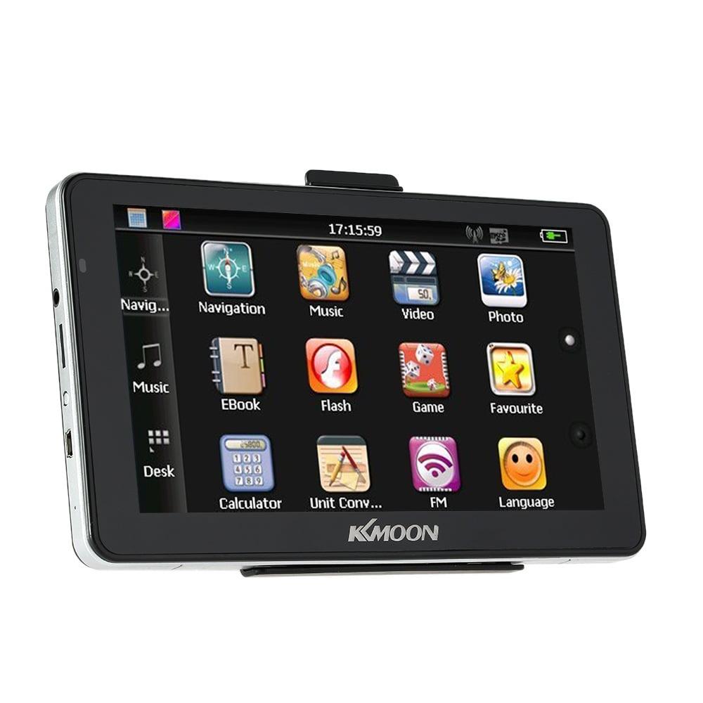 "KKmoon 7"" Portable HD Screen GPS Navigator 128MB RAM 4GB ROM MP3 FM Video Play Car Entertainment System"