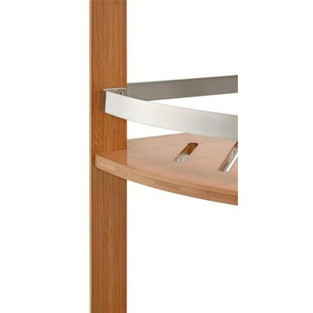Ameriwood Home Altra Bamboo Bathroom Shelves Corner Tower