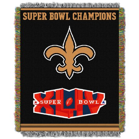 New Orleans Saints NFL Super Bowl Commemorative Woven Tapestry Throw (48