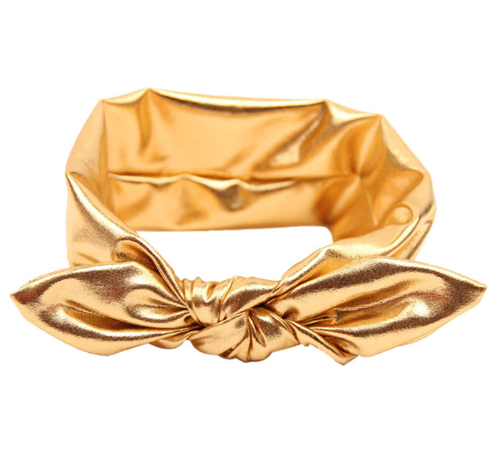 Outtop Fashion Rabbit Design Elasticity Wash Gold Baby Girl Headband Hair Accessory