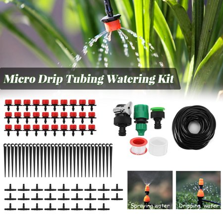 83' FT Lawn/Farm Automatic Sprinkler System Dripper DIY Garden Micro Drip Irrigation System Hose Kits Plant Flower Watering Sprinkler Patio Water Mister ()