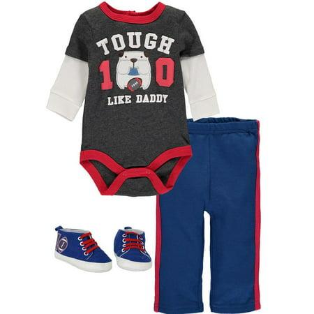 14059dd91c Bon Bebe - Bon Bebe Baby Boys 0-9 Months Football Puppy Shoe Pant Set -  Walmart.com